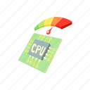 board, cartoon, computer, measurement, processor, sensor, temperature icon