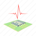 board, cartoon, computer, cpu, high, sensor, temperature icon