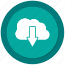 cloud, download, guardar, save icon