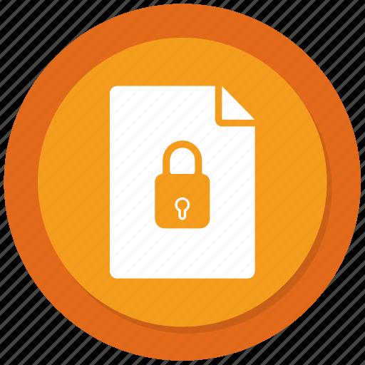 file, list, lock, menu icon