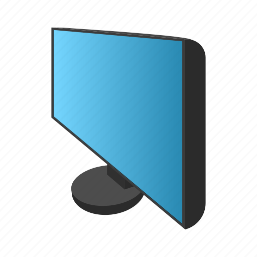 cartoon, computer, display, monitor, screen, technology, wide icon