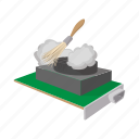 brush, cartoon, computer, dirty, dust, pc, service icon