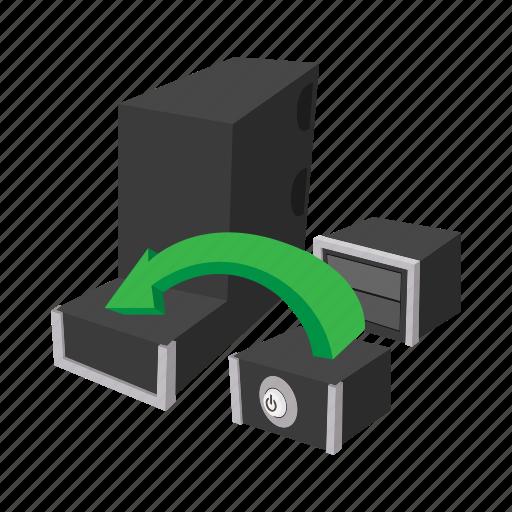 board, cartoon, component, computer, electronic, pc, processor icon