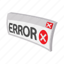 cartoon, concept, error, failure, internet, sign, web icon