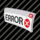 cartoon, concept, error, failure, internet, sign, web