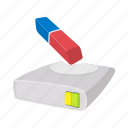 cartoon, clean, data, disk, drive, memory, spin