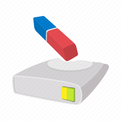 cartoon, clean, data, disk, drive, memory, spin icon