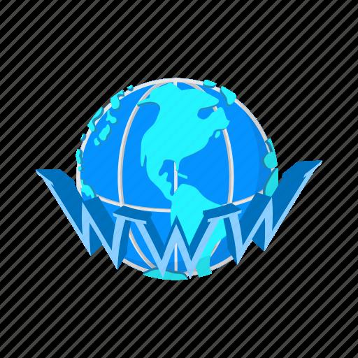 cartoon, concept, earth, globe, internet, web, www icon