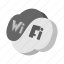 cartoon, internet, sign, web, wifi, yang, yin icon