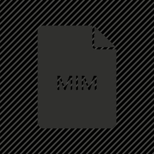 mim, mim file icon, multi-purpose internet mail, multi-purpose internet mail message icon
