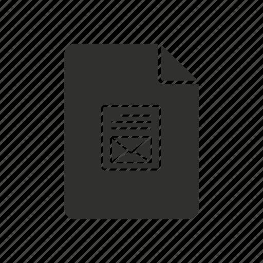 mail icon, mim, mim file, multi - purpose internet mail icon