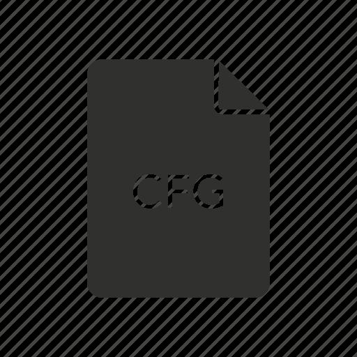 cfg, cfg file, configuration, configuration file icon