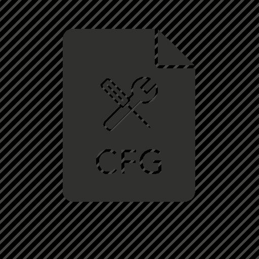 cfg, config file, configuration, configuration file icon