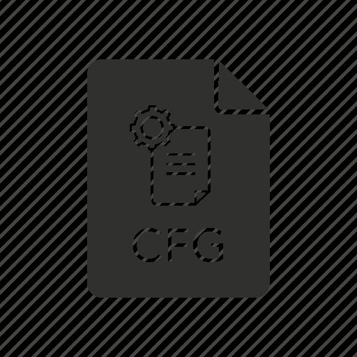 cfg, cfg icon, configuration, configuration file icon
