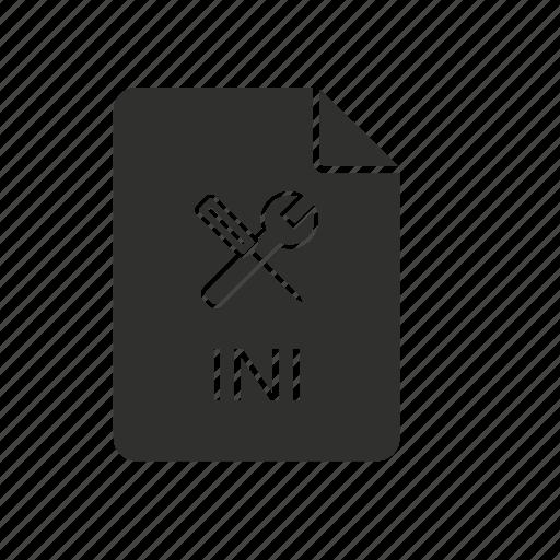 ini file, tools, windows, windows initialization file icon