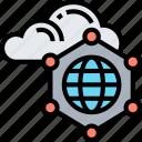 cloud, network, data, storage, connection