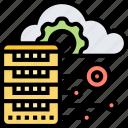 cloud, server, data, processor, storage