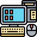 computer, desktop, device, monitor, electronics