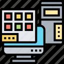 desktop, computer, screen, interface, program