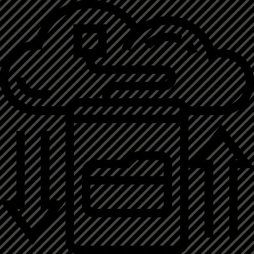 Backup, data, cloud, storage, transfer icon - Download on Iconfinder