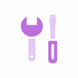maintenance, screwdriver, settings, tools, wrench icon