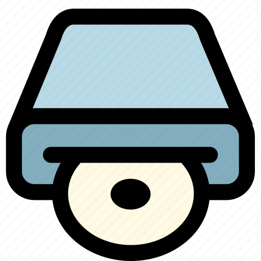 cd driver, computer, device, disc, technology icon