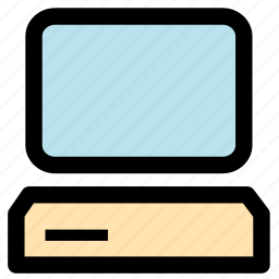 computer, desktop computer, display, monitor, screen, technology icon