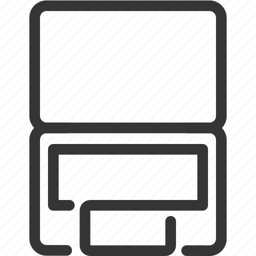computer, internet, laptop, notebook, tablet, technology, top view icon