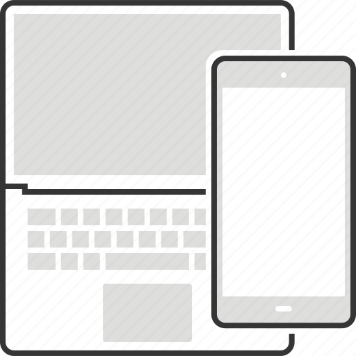 computer, interface, internet, laptop, mobile phone, smart phone, technology icon
