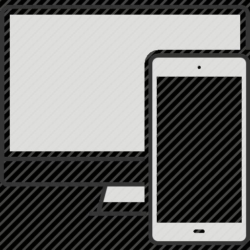 computer, desktop, internet, laptop, mobile phone, smart phone, technology icon