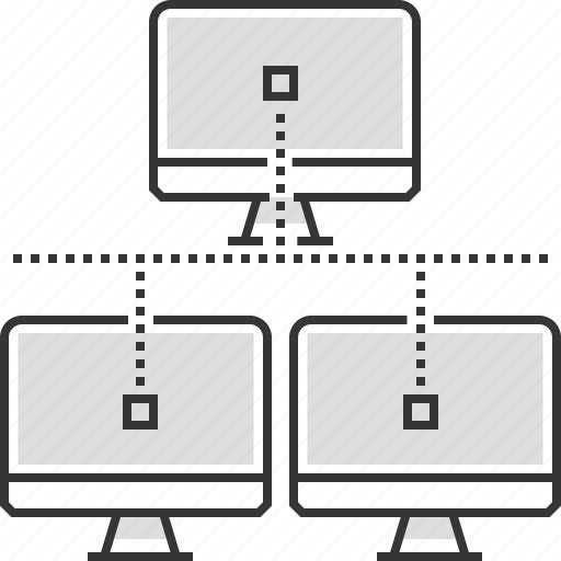computer, data, laptop, network, router, share, social icon