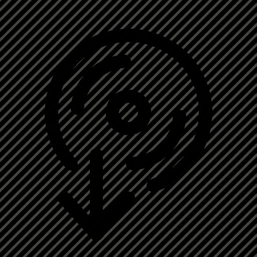 cd, computer, download, installation icon