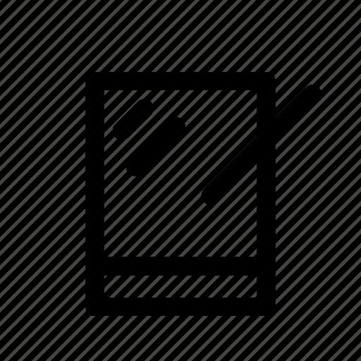 computer, pen, tablet icon