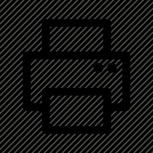 computer, device, print, printer, printout icon