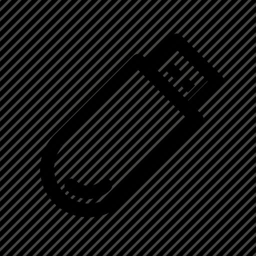 computer, data storage, stick, usb, usb-stick icon