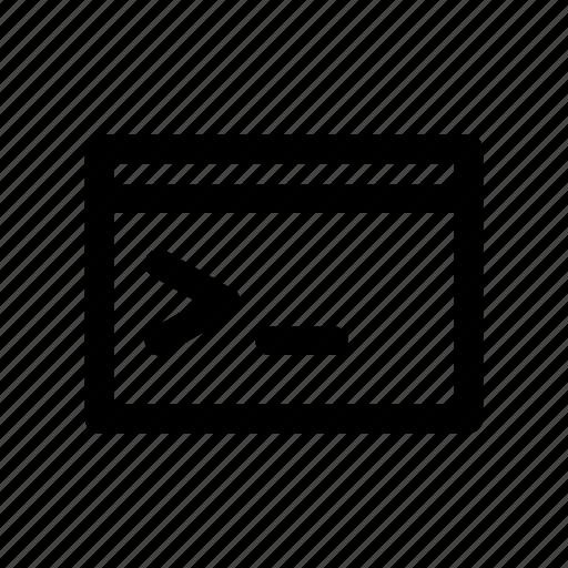 code, coding, comand, computer, console, terminal icon
