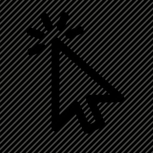 arrow, click, computer, mouse icon
