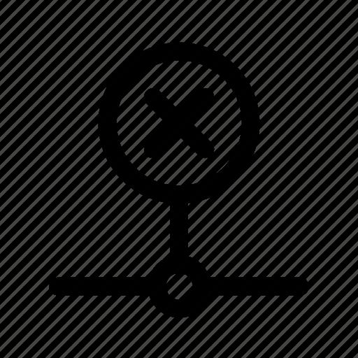 connection, error, fail, failed, failure, inactive, network icon