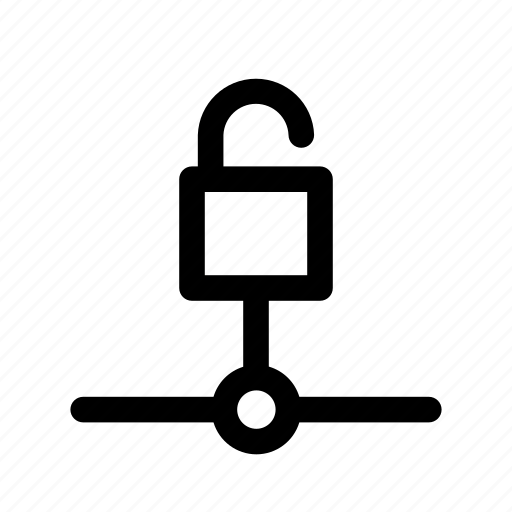 computer, connection, network, password, protection, secure, unlocked icon