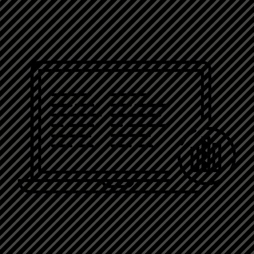 analytics, chart, computer, graph, laptop, marketing, report icon