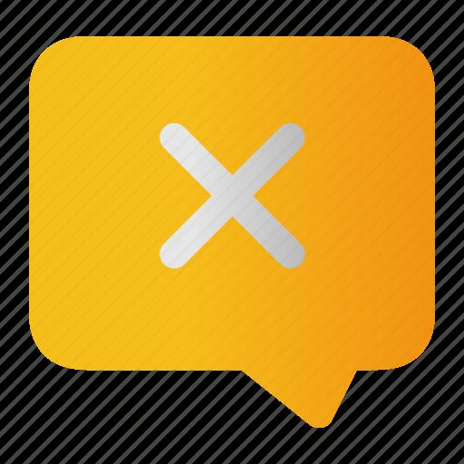 close, delete, no, remove, stop, unsend icon