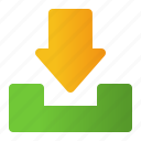 archive, arrow, down, download, navigation icon