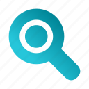 find, search, seo, zoom icon