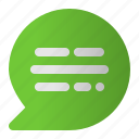 chat, chatting, message, speech, talk, text icon