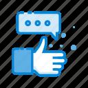 communication, like, media, network, social icon