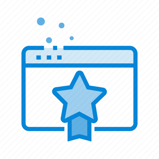 achievement, bookmark, favorite, page quality, rating, star icon