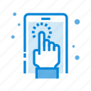 finger, gesture, mobile, screen, smartphone, touch icon