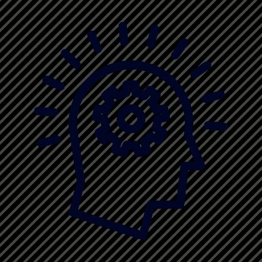brain, brainstorm, conceptional, idea, ui, web icon