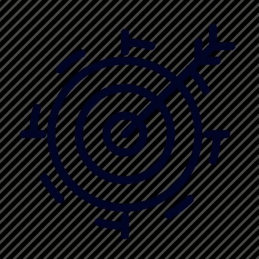 bullseye, conceptional, idea, target, ui, web icon