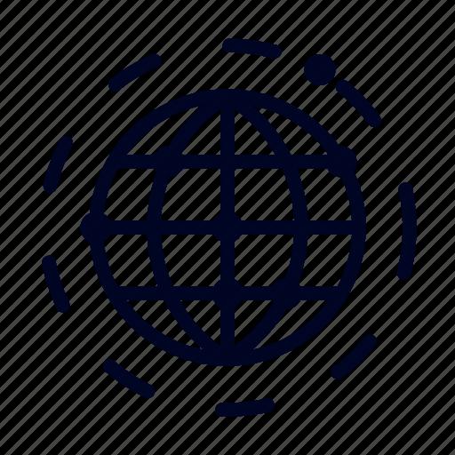 communication, conceptional, idea, satellite, ui, web, world icon
